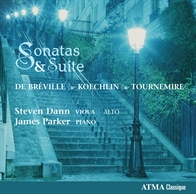 Sonatas and Suite - De Bréville, Koechlin, Tournemire